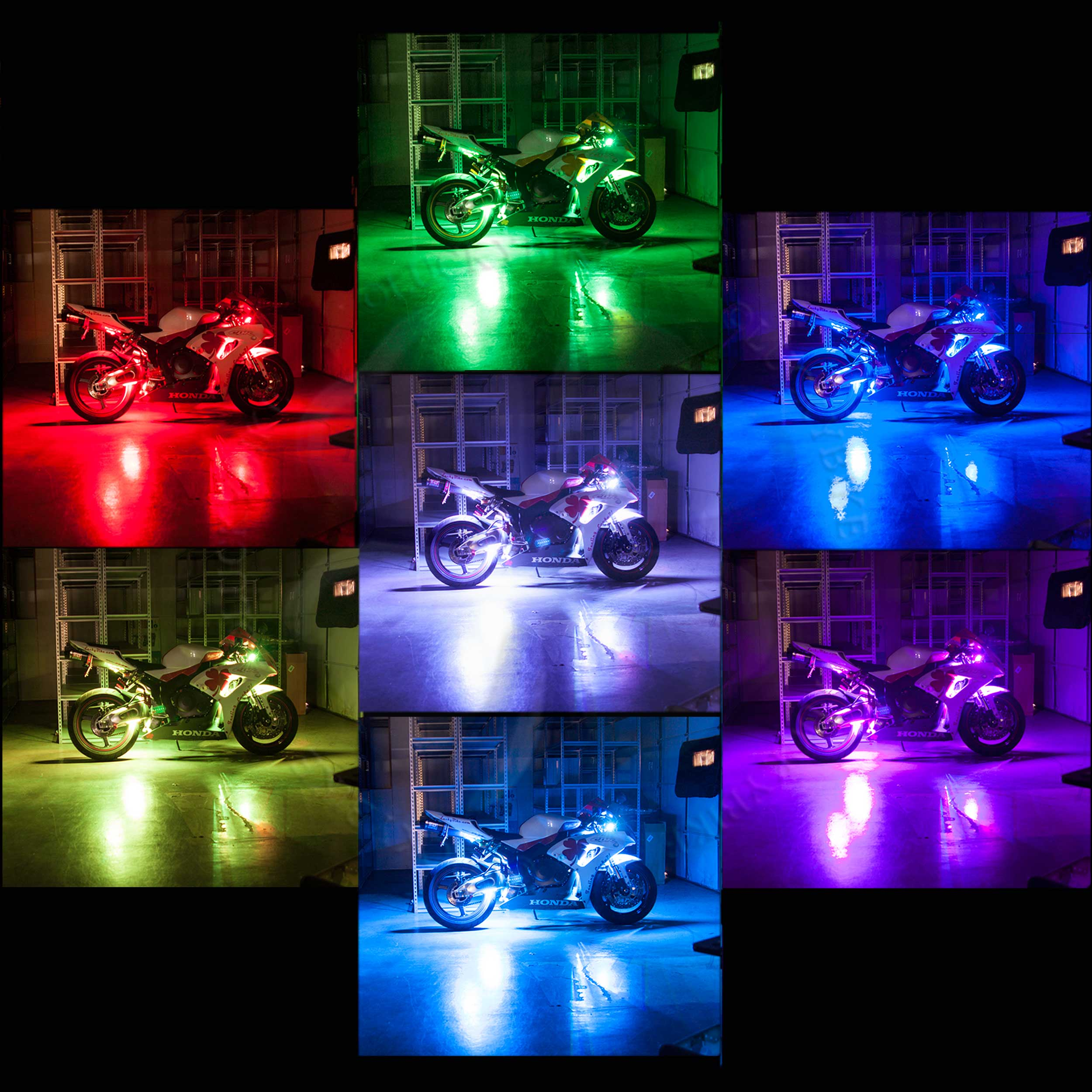 Lighting - LED RGB Kit - Remote Controlled - 8 Strips